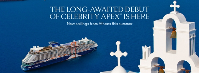 Celebrity Cruise Line: The long-awaited debut of Celebrity Apex(sm) is here. New sailings from Athens this summer. Click to learn more.