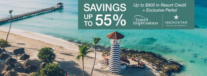 Travel Impressions:Iberostar Hotels and Resorts: Savings up to 55%. Up to $800 in Resort Credit PLUS Exclusive Perks! Terms and conditions apply. Click to learn more.