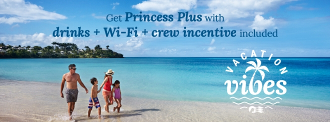 Princess Cruises: Princess Plus sale with drinks, wi-fi, and gratuities included