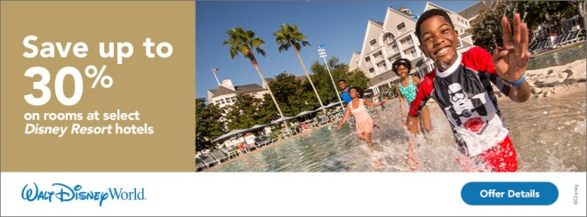 Save up to 30% on rooms at select Disney Resort Hotels. Walt Disney World.